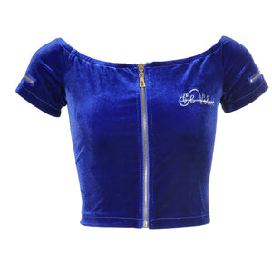 Women's Royal Blue  Vélvét Summer Full Set