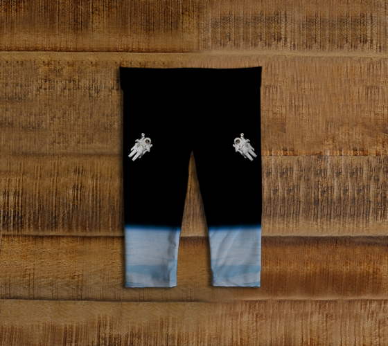 Floating Spaceman Baby Leggings