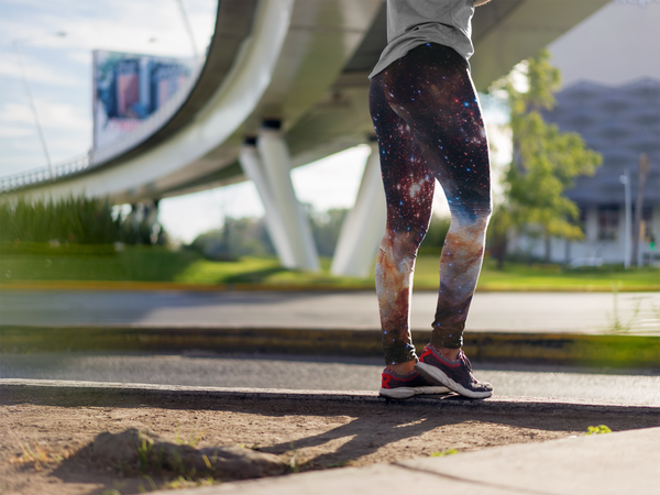 Celestial Fireworks Yoga Leggings (EcoPoly Fabric)
