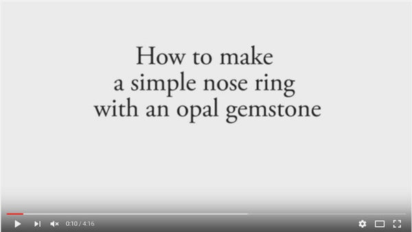 How to make a simple nose ring with opal gemstone?