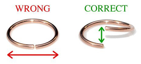 How to open and close earring