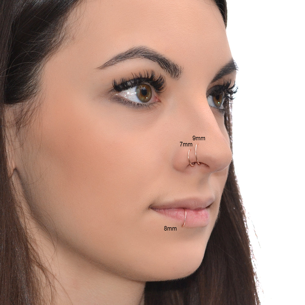 nose rings size chart