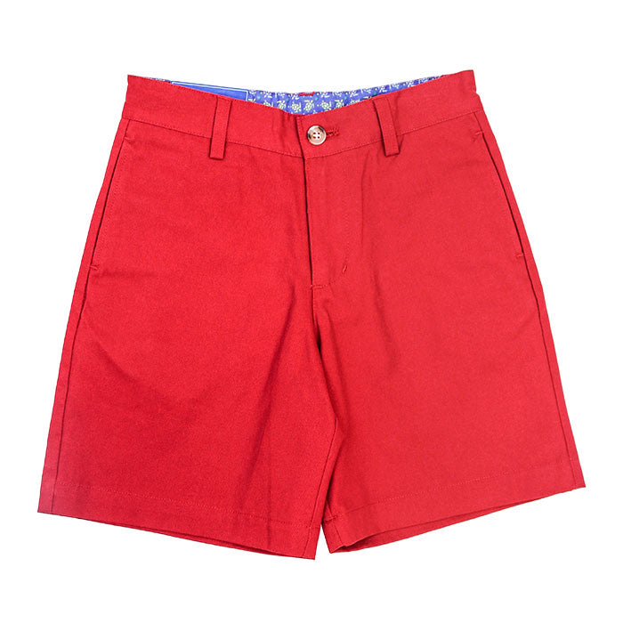 J Bailey by The Bailey Boys - Crimson Twill Shorts