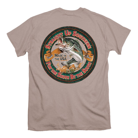 Straight up Southern - Youth Bass Circle Tee - Sand