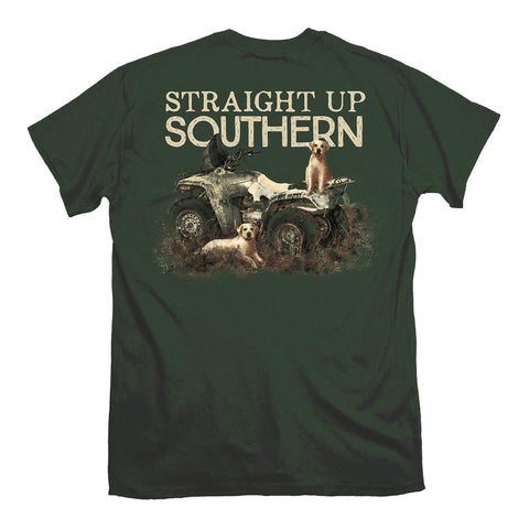 Straight up Southern - Youth Four Wheeler Labs Tee - Green