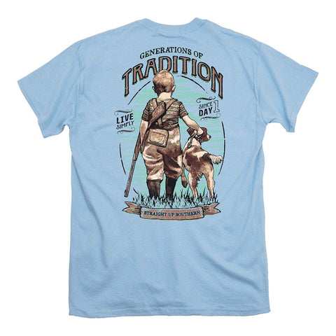 Straight up Southern - Youth Tradition Tee - Light Blue