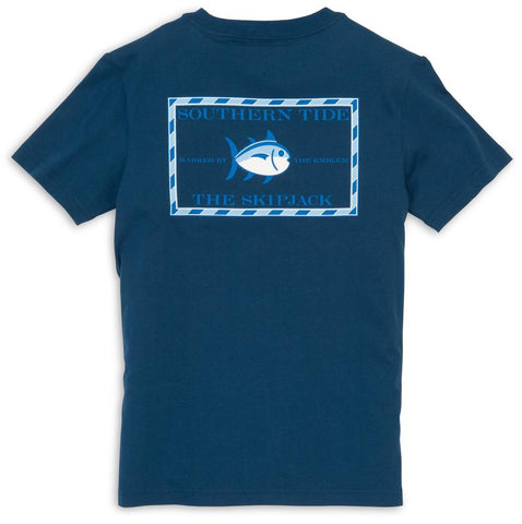 Southern Tide - Kids' Skipjack Classic T-Shirt - Yacht Blue