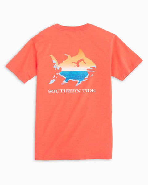 Southern Tide - Kids' Cliff Diving T-Shirt - Hot Coral