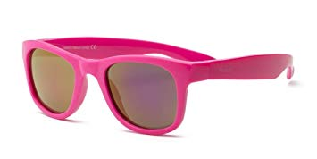 Real Kids Shades - Surf Style Unbreakable 100% UVA & UVB Protection Sunglasses - Pink (Ages 4+ & Ages 7+)