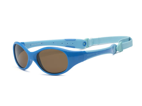 Real Kids Shades - Explorer P2 Kid Unbreakable Polarized Lens Sunglasses - Blue/Light Blue (Ages 4+)