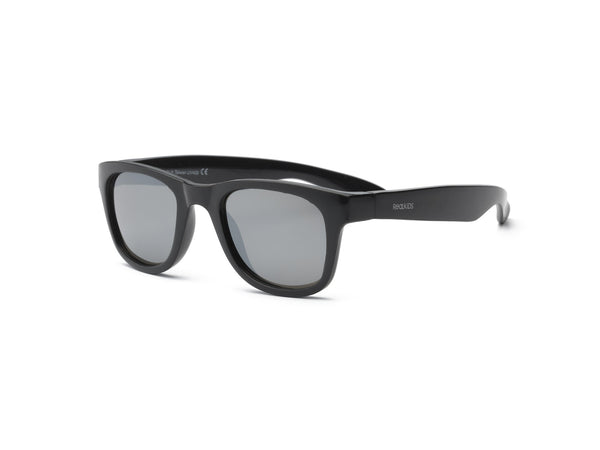 Real Kids Shades - Surf Style Unbreakable 100% UVA & UVB Protection Sunglasses - Black (Ages 4+ & Ages 7+)