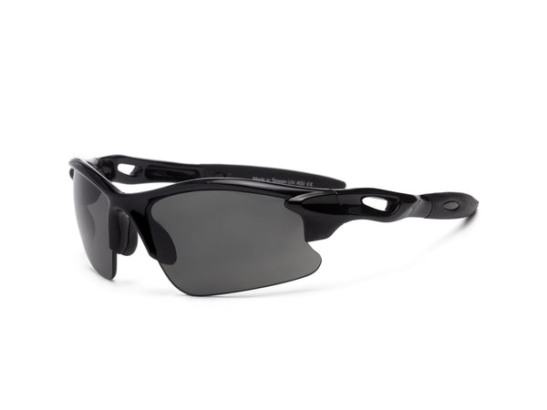 Real Kids Shades - Youth Blaze P2 Polarized Sunglasses - Black (Ages 7+)