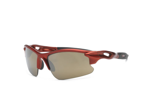 Real Kids Shades - Youth Blaze P2 Polarized Sunglasses - Red (Ages 7+)