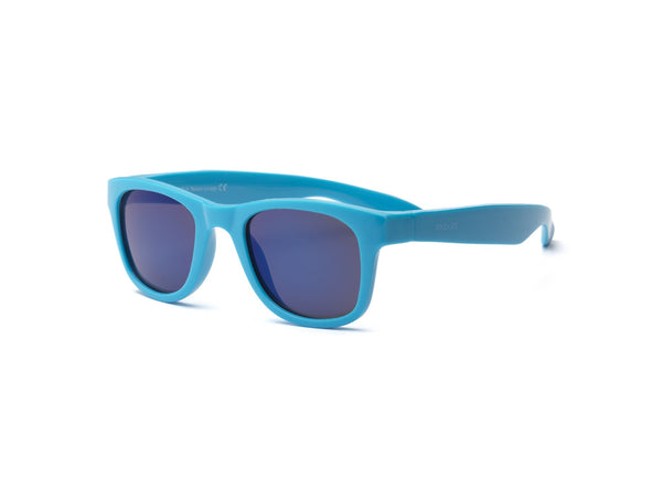 Real Kids Shades - Surf Style Unbreakable 100% UVA & UVB Protection Sunglasses - Blue (Ages 4+ & Ages 7+)
