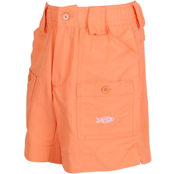 Aftco youth boys fishing shorts coral youthful cotton for Prodoh fishing shirts