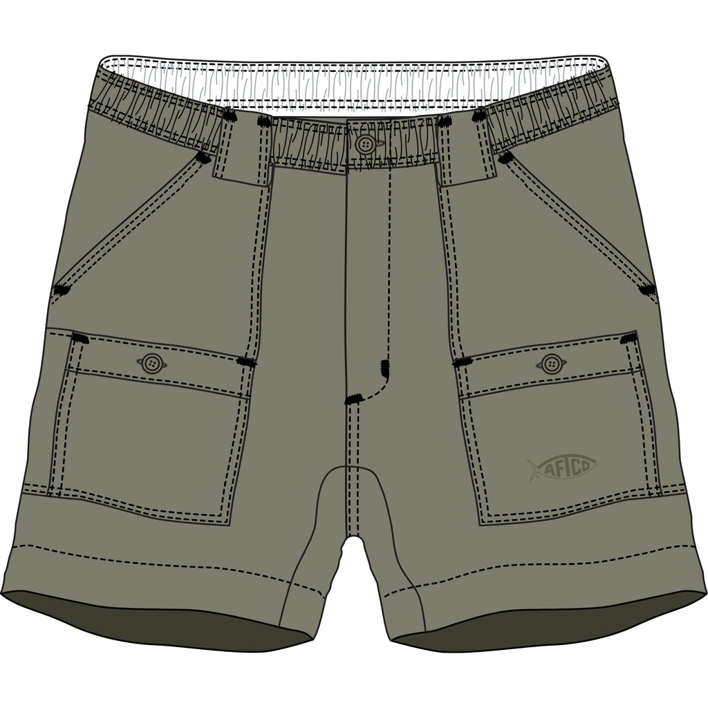 AFTCO - Youth Boys Fishing Shorts - Safari