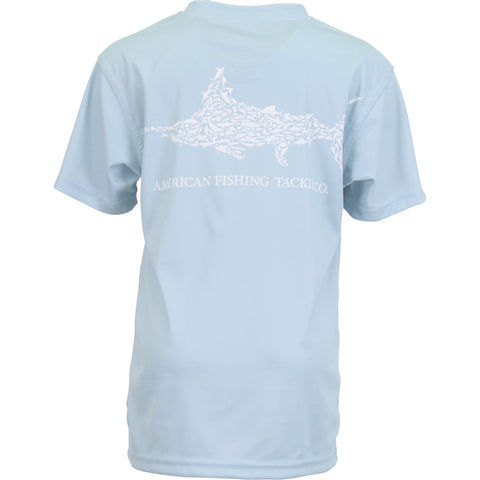 AFTCO - Youth Boys Jigfish SS Shirt - Sky Blue