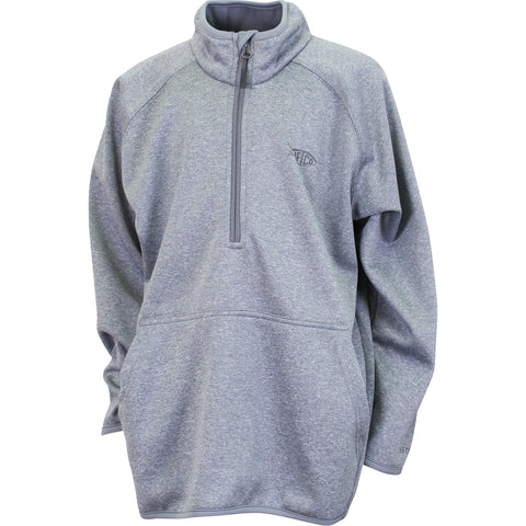 AFTCO - Youth 1/4 Zip Performance Fleece Pullover - Gray Heather