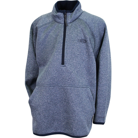AFTCO - Youth 1/4 Zip Performance Fleece Pullover - Midnight Heather