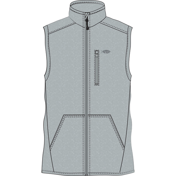 AFTCO - Boys Vista Vest - Gray Heather
