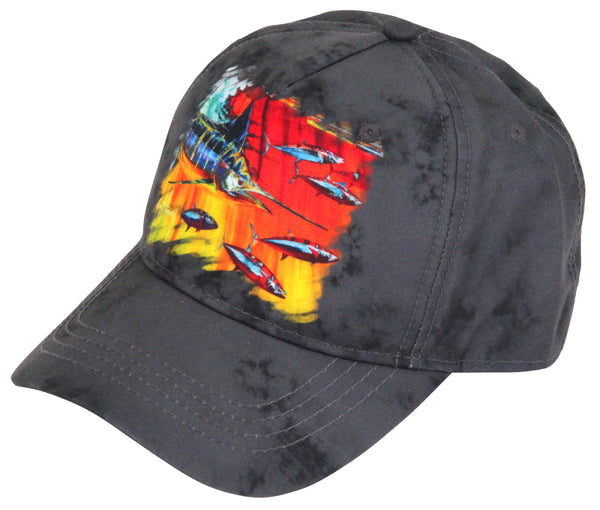 Guy Harvey - Mad Hatter Boys Trucker Hat - Charcoal