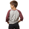Brewers Lantern - Mountain Patch Baseball LS Shirt - Cranberry