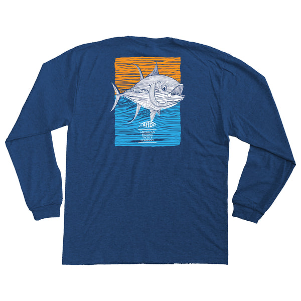 AFTCO - Youth LS Tuna Roll T-Shirt - Navy Heather