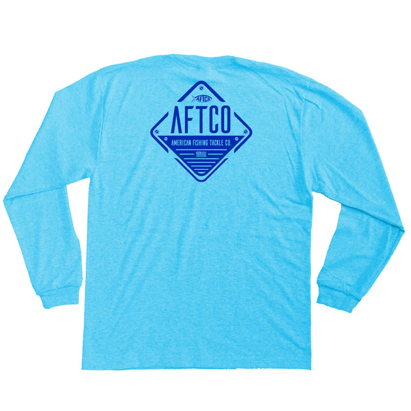 AFTCO - Youth LS Guide T-Shirt - Neon Sky Heather