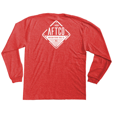 AFTCO - Youth LS Guide T-Shirt - Red Heather