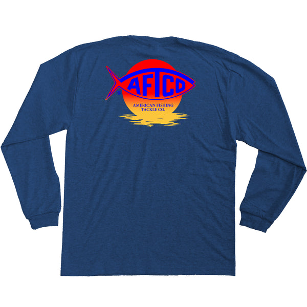 AFTCO - Youth LS Sunrise T-Shirt - Navy Heather