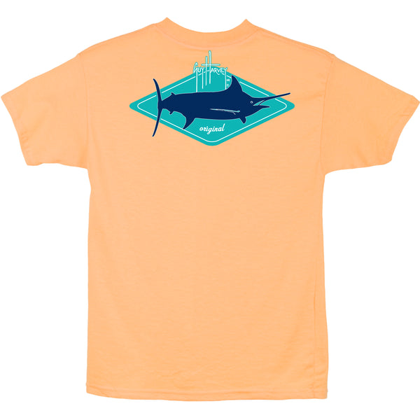 Guy Harvey - Youth Boys Short Sleeve Kite Tee - Mango
