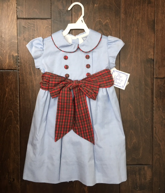 The Bailey Boys - Chambray w/ Berry Plaid Empire Dress