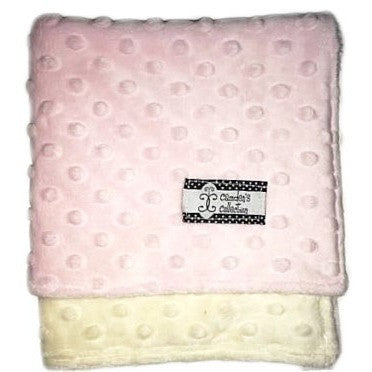 Camden's Collection - Lovie - Baby Pink on Cream Dimple Dot Minky