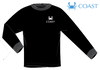 Coast Apparel - LS Rival Fish - Jet Black (Youthful Cotton Exclusive!)