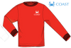Coast Apparel - LS Sail Not Drift - Red Heather (Youthful Cotton Exclusive!)