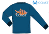 Coast Apparel - LS Tiger Fish Tee - Navy (Youthful Cotton Exclusive!)