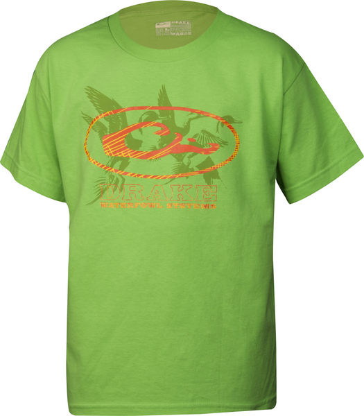 Drake - Young Guns Oval Ducks SS Tee - Safety Green