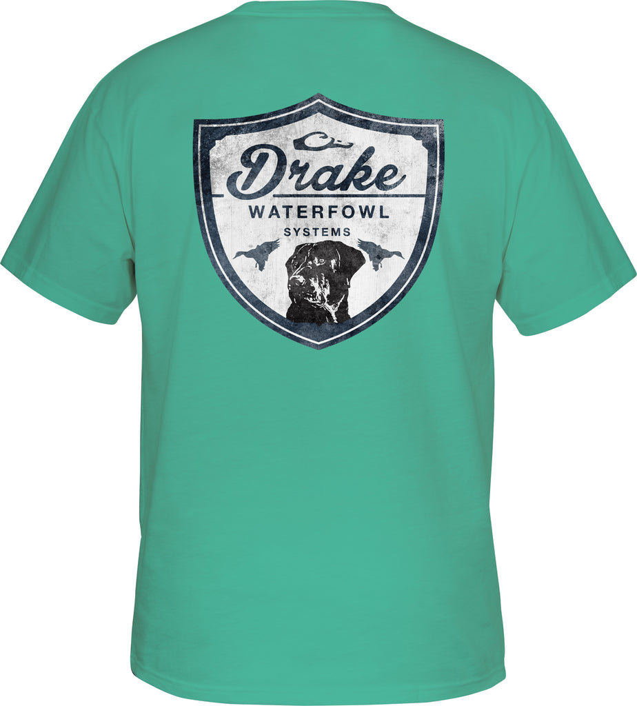 Drake - Young Guns Youth Drake Lab Shield SS Tee - Seafoam