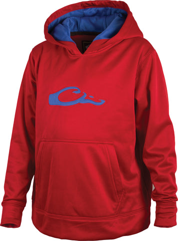 Drake - Youth Performance Hoodie - Red/Blue