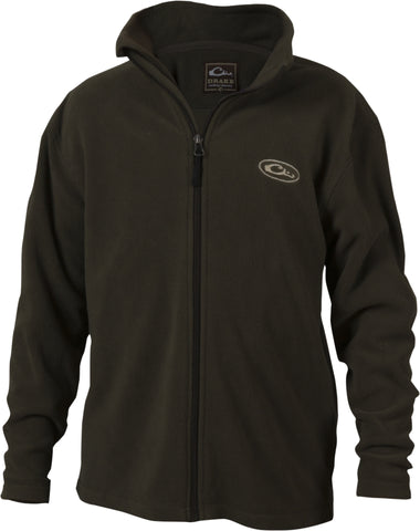 Drake - Youth Camp Fleece Full Zip - Green