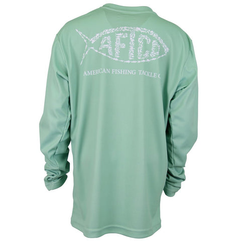 AFTCO - Youth Boys Cipher Longsleeve Shirt - Green Ash