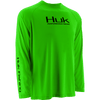 HUK Performance Fishing - Youth Performance Raglan LS Performance Tee - Neon Green