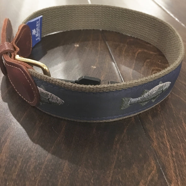 J. Bailey by The Bailey Boys - Striped Bass Belt - Green/Navy