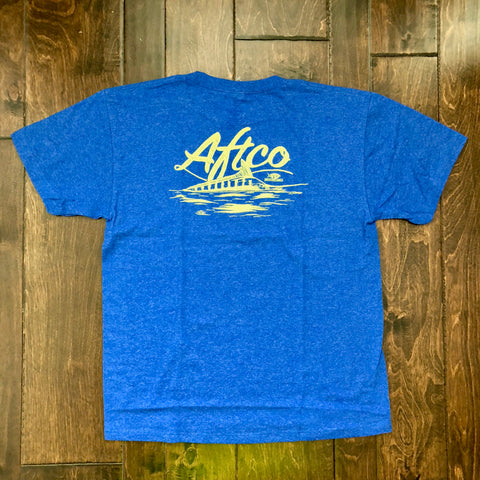 AFTCO - Youth Boys Horizon SS T-Shirt - Royal Heather