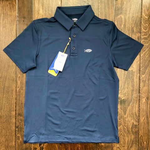 AFTCO - Boys Wellington Polo - Midnight
