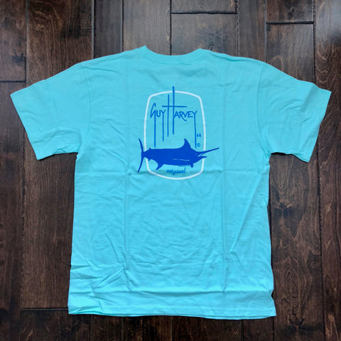 Guy Harvey - Barrel Logo Boy's Shirt - Mint