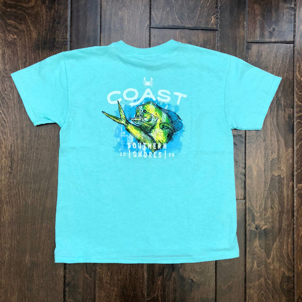 Coast Apparel - Youth SS Southern Shores - Mint