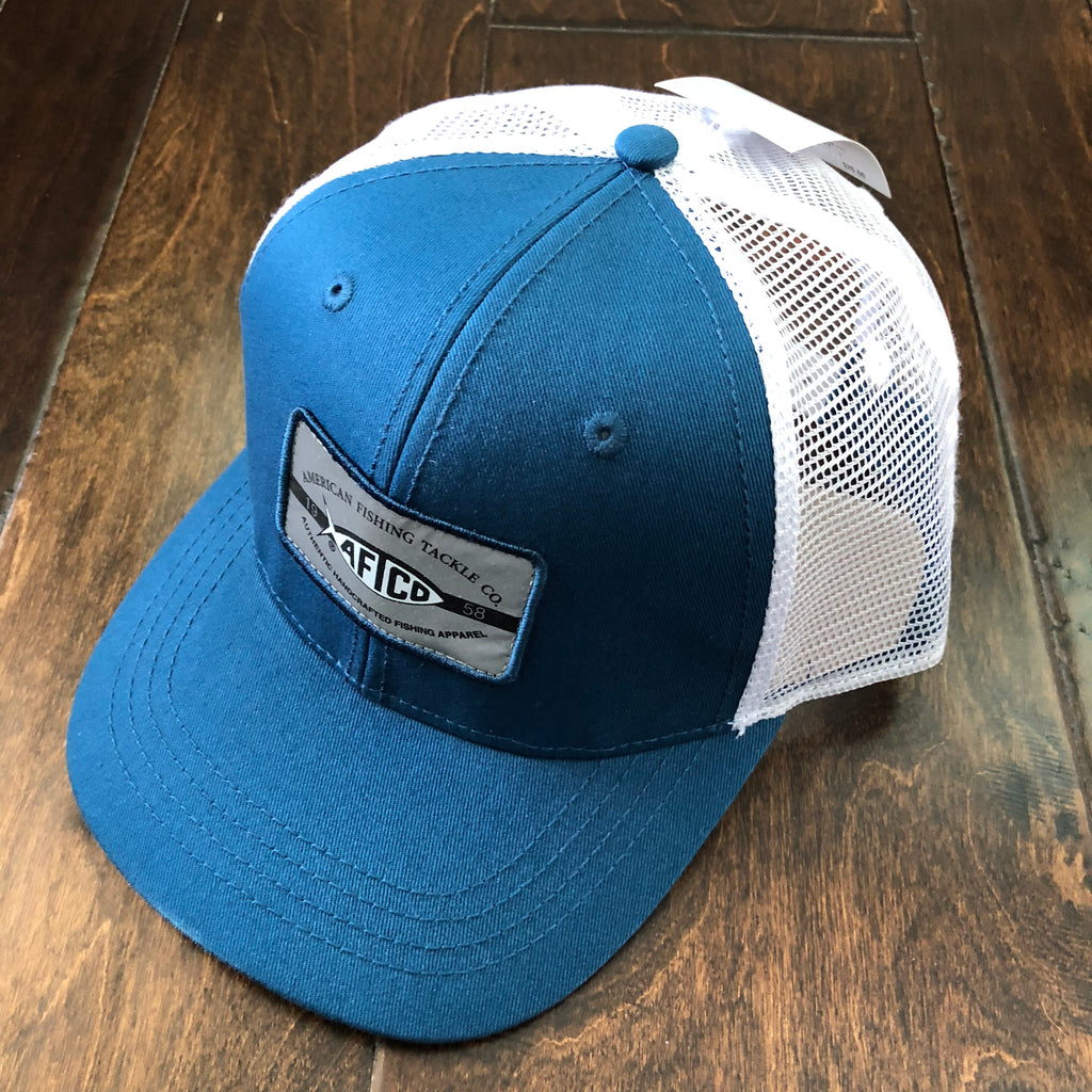 AFTCO - Boys Patch Trucker Hat - Blue Steel