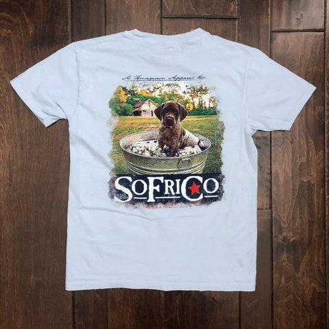 Southern Fried Cotton - Youth SS Reese Tee - Southern Sky