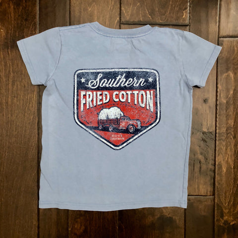 Southern Fried Cotton - Toddler SS 100% Cotton Tee - Faded Jeans